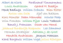 nederlandse componsitennamen