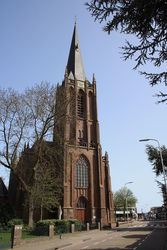 The tower of the Basilica of the Holy Cross in Raalte